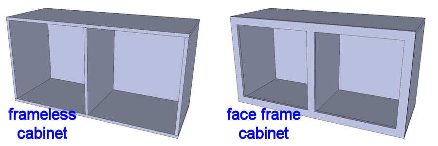 Luxury Face Frame Cabinets Vs Frameless
