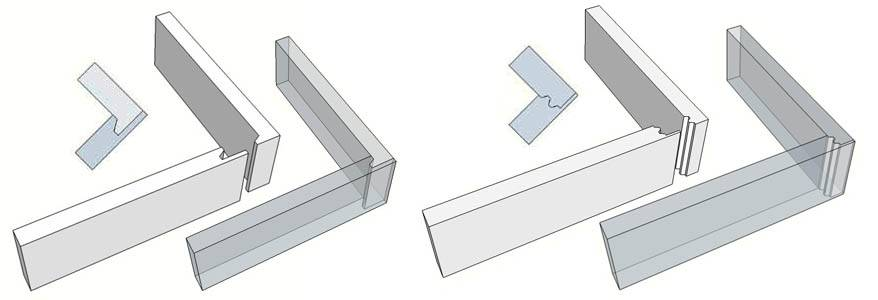 how to cut a double rabbet joint
