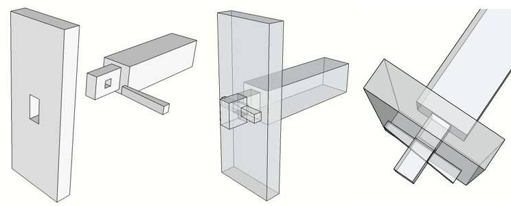 how to create mortise and tenon joing
